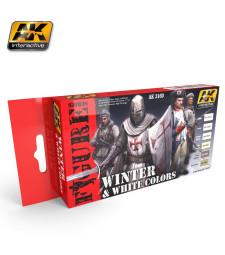 AK3160 WHITE AND WINTER COLORS - Комплект бои за фигури (6 x 17 ml)