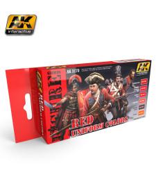 AK3170 RED UNIFORM COLORS - Комплект бои за фигури (6 x 17 ml)