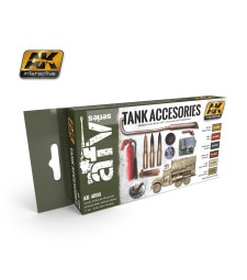 AK-4000 TANK ACCESORIES - Комплект акрилни бои (6 x 17 ml)