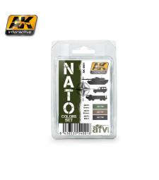 AK4001 NATO - Комплект акрилни бои (3 x 17 ml)