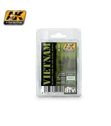 AK4010 VIETNAM - Комплект акрилни бои (3 x 17 ml)