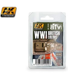AK-4040 WWI BRITISH COLORS (Khaki Brown Modulation Set) - Комплект акрилни бои (3 x 17 ml)