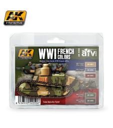 AK4050 WWI FRENCH COLORS - Комплект акрилни бои (5 x 17 ml)