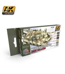 AK4080 MODERN FRENCH ARMY COLOURS - Комплект акрилни бои (6 x 17 ml)