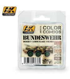 AK4175 BUNDESWEHR DESERT CAMOUFLAGE COLORS COMBO - Комплект акрилни бои (3 x 17 ml)