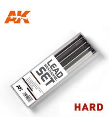 AK4188 LEAD WEATHERING SET HARD - Комплект от графити за състаряване на сглобяеми модели