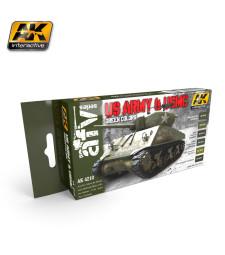 AK4210 US ARMY & USMC GREEN COLORS - Комплект акрилни бои (6 x 17 ml)