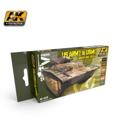 AK4220 US ARMY & USMC CAMOUFLAGE COLORS - Комплект акрилни бои (6 x 17 ml)