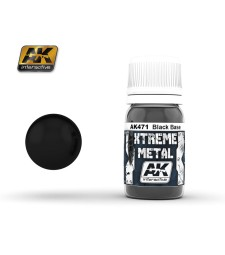 AK-471 XTREME METAL BLACK BASE  (30 ml) - Металайзер Xtreme