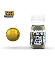 AK-472 XTREME METAL GOLD  (30 ml) - Металайзер Xtreme