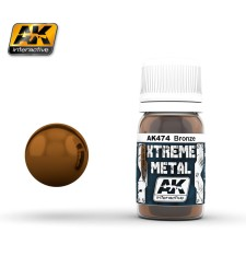 AK-474 XTREME METAL BRONZE  (30 ml) - Металайзер Xtreme