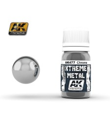 AK-477 XTREME METAL CHROME  (30 ml) - Металайзер Xtreme
