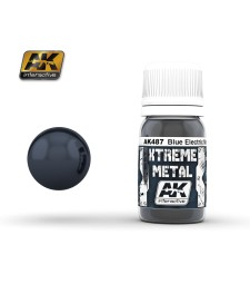 AK-487 XTREME METAL METALIC BLUE  (30 ml) - Металайзер Xtreme