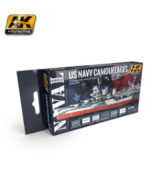 AK5000 US NAVY CAMOUFLAGES - Комплект акрилни бои (6 x 17 ml)
