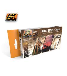 AK551 RUST EFFECTS - Комплект акрилни бои (6 x 17 ml)