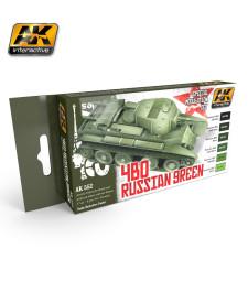 AK553 4BO RUSSIAN GREEN - Модулиращ комплект бои (6 x 17 ml)