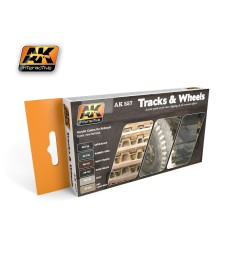 AK557 TRACK AND WHEELS - Комплект акрилни бои (6 x 17 ml)