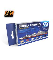 AK559 GERMAN WARSHIPS - Комплект акрилни бои (6 x 17 ml)