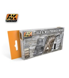 AK563 OLD AND WEATHERED WOOD VOL.2 - Комплект акрилни бои (6 x 17 ml)