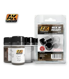 AK-616 MIX N READY (4 EMPTY JARS WHITH LABELS) - Помощен продукт