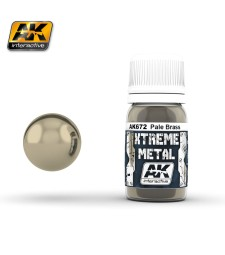 AK-672 XTREME METAL PALE BRASS  (30 ml) - Металайзер Xtreme