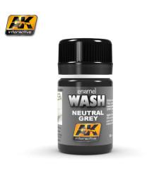 AK-677 NEUTRAL GREY FOR WHITE & BLACK WASH - Ерозиращ продукт (35 ml)