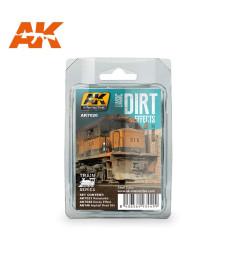 AK7020 BASIC DIRT EFFECTS SET - Комплект за състаряване с основни прашни ефекти (3 x 35 ml)