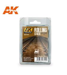 AK7023 ROLLING STOCK WEATHERING SET - Състаряващ комплект за подвижен състав (3 x 35 ml)