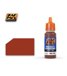 AK708 DARK RUST - Акрилна боя от синя серия (17 ml)