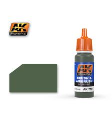 AK-750 PROTECTIVE GREEN - Акрилна боя от синя серия (17 ml)