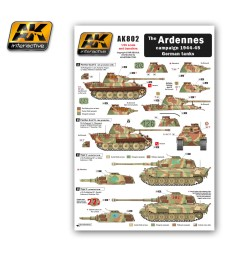AK802 The ARDENNES Campaign 1944-45 German Tanks - Декали