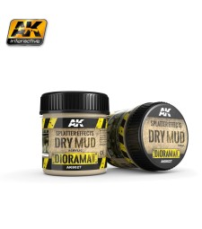 AK-8027 SPLATTER EFFECTS DRY MUD - (100 ml, Acrylic) - Текстуриращ продукт
