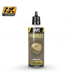 AK8028 Воден ефект: Локви (PUDDLES) - (60 ml, акрил) - Текстуриращ продукт