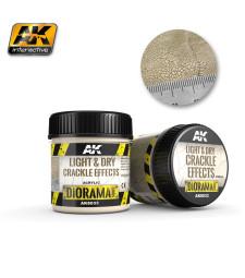 AK-8033 LIGHT & DRY CRACKLE EFFECTS - (100 ml, Acrylic) - Текстуриращ продукт