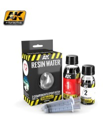 AK-8044 RESIN WATER 2-COMPONENTS EPOXY RESIN - (180 ml,Enamel) - Текстуриращ продукт