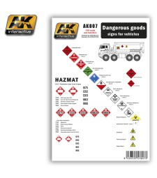 AK807 DANGEROUS GOODS signs for vehicles - Декали