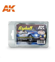 "AK8090 ASPHALT EFFECTS RACE SET - Серия ""Автомобили и превозни средства"" (3 x 17 ml)"