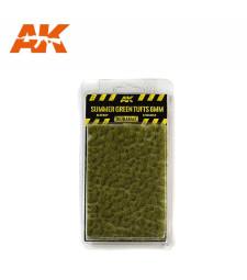 AK8120 Летни зелени туфи (6 mm) - Текстура за диорама