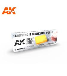 AK9005 CARVING TOOLS DELUXE BOX - Делукс комплект инструменти за гравиране