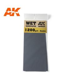 AK9034 Водна шкурка 1200 Grit. 3 броя
