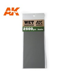 AK9037 Водна шкурка 2500 Grit. 3 броя