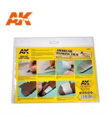 AK9045 Airbrush Masking Film - 2 броя маскиращ филм за аерография