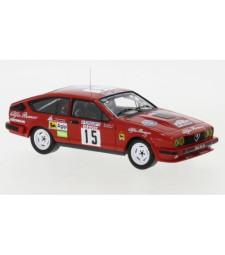 Alfa Romeo GTV6, No.15, Rallye WM, tour de Corse, B.Balas/E.Laine, 1986