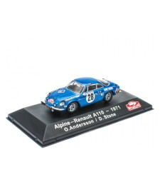 Alpine-Renault A110 - 1971 O. Andersson / D.Stone - ATLAS Editions Collection