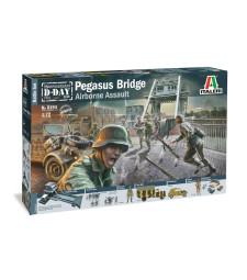 1:72 Диорама: Мостът Пегас, Втора световна война - 100 фигури
