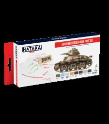 HTK-AS21 Early WW2 French Army paint set (8 x 17 ml) - ЧЕРВЕНА СЕРИЯ -  КОМПЛЕКТ ЗА АЕРОГРАФ