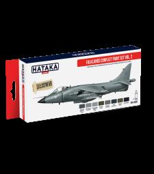 HTK-AS28 Falklands Conflict paint set vol. 2 (8 x 17 ml) - ЧЕРВЕНА СЕРИЯ -  КОМПЛЕКТ ЗА АЕРОГРАФ
