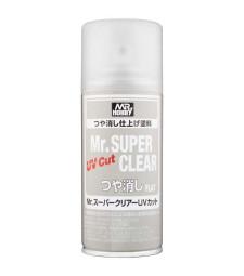 B-523 Лак на спрей Mr. Super Clear UV Cut Flat Spray (170 ml)