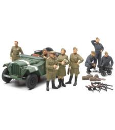 1:48 Russian Field Car GAZ-67B w/Officers