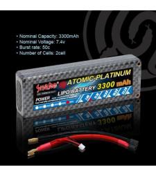 Литиево-полимерна батерия 7.4v 3300mAh 50C